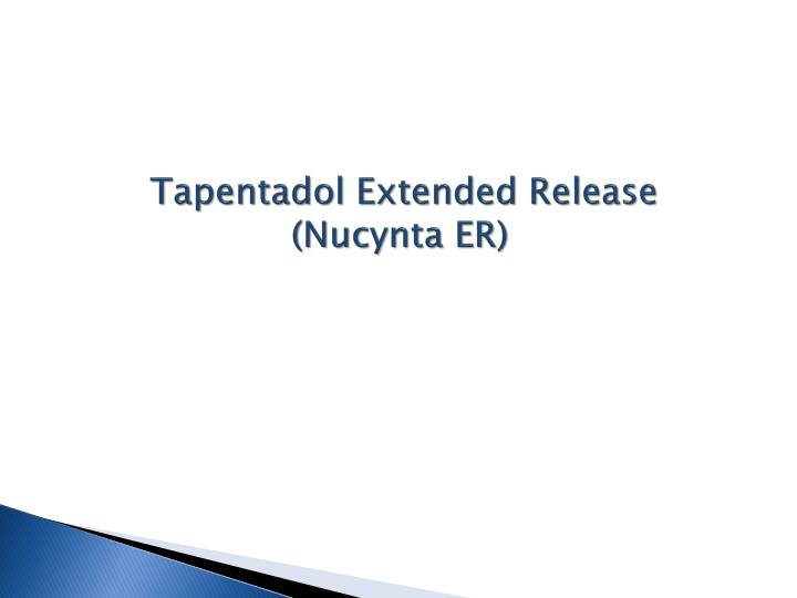 Tapentadol Extended Release