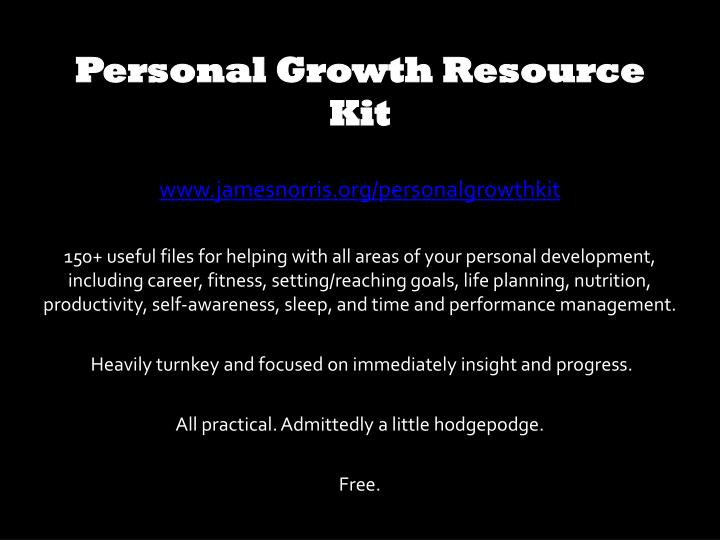 Personal Growth Resource Kit