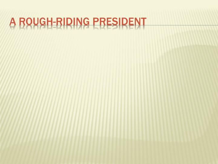 A Rough-riding president