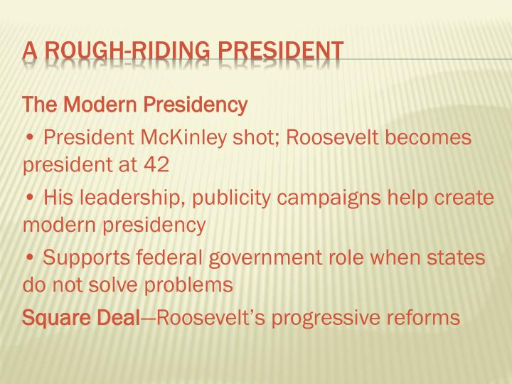 The Modern Presidency