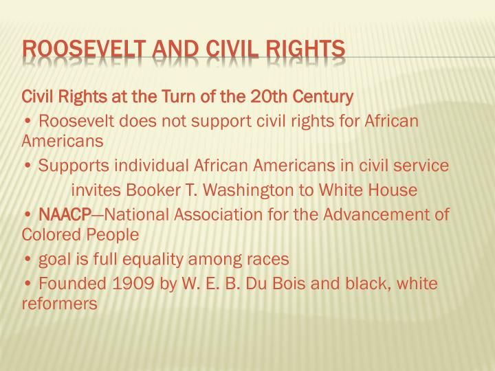 Civil Rights at the Turn of the 20th Century