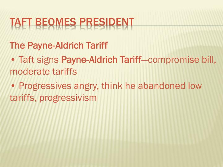 The Payne-Aldrich Tariff