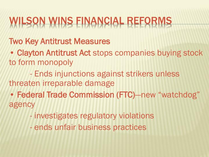 Two Key Antitrust Measures