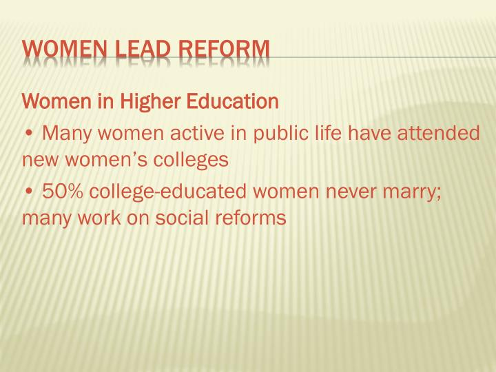 Women in Higher Education