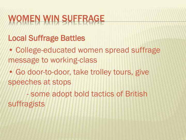 Local Suffrage Battles