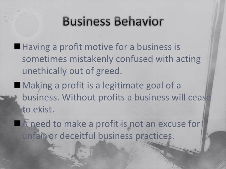 Business Behavior