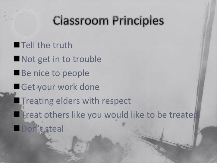 Classroom Principles