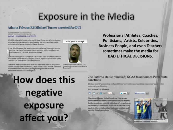 Exposure in the Media