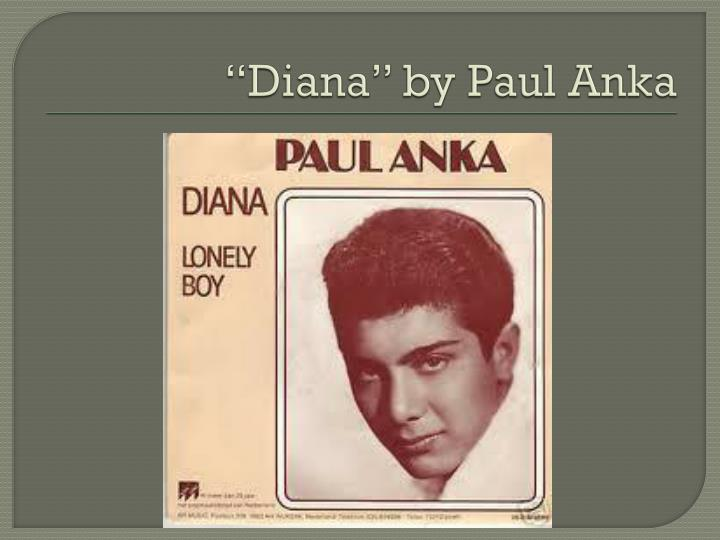 """Diana"" by Paul"