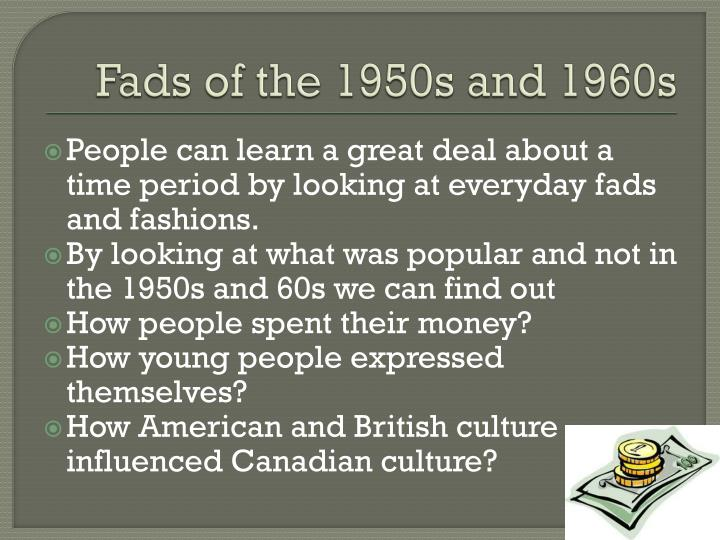Fads of the 1950s and 1960s