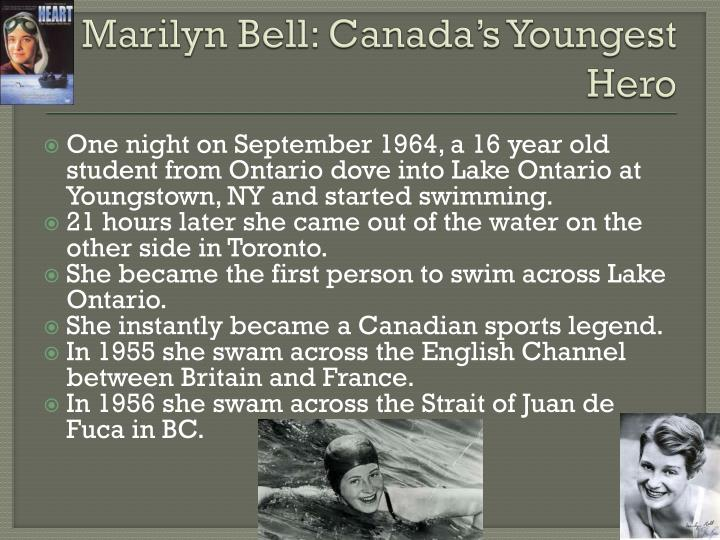 Marilyn Bell: Canada's Youngest Hero