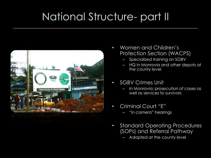 National Structure- part II