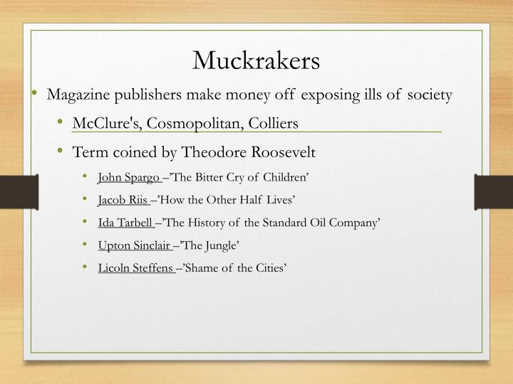 Muckrakers