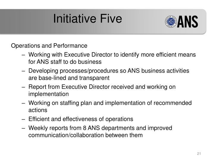 Initiative Five