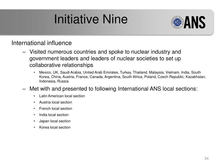 Initiative Nine