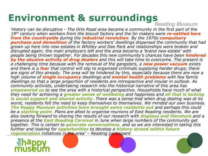 'History can be disruptive - The Orts Road area became a community in the first part of the 19