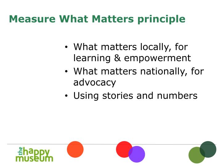 What matters locally, for learning & empowerment