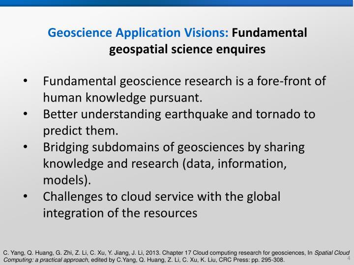Geoscience Application