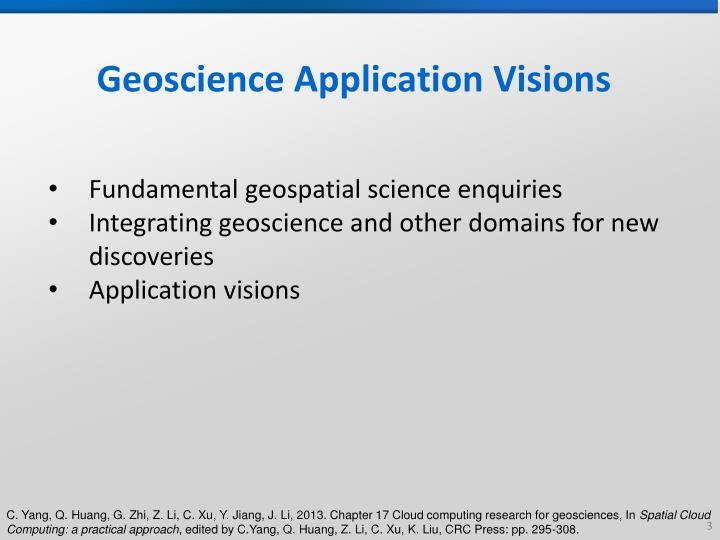 Geoscience application visions