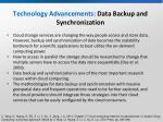 technology advancements data backup and synchronization