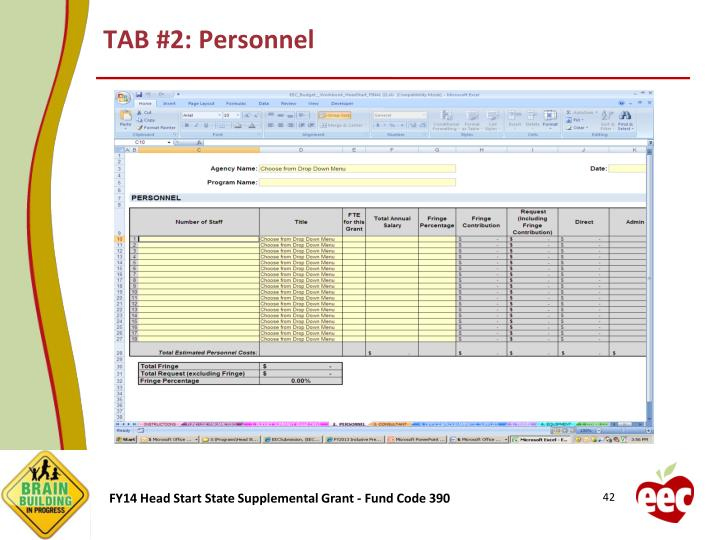 TAB #2: Personnel