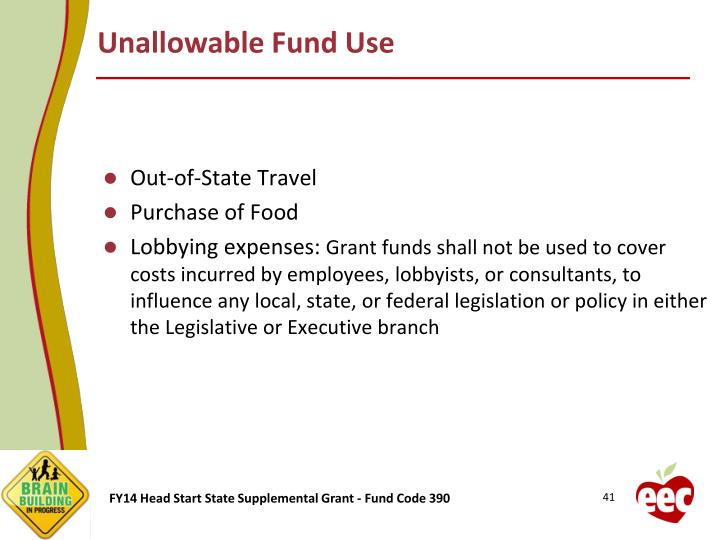 Unallowable Fund Use