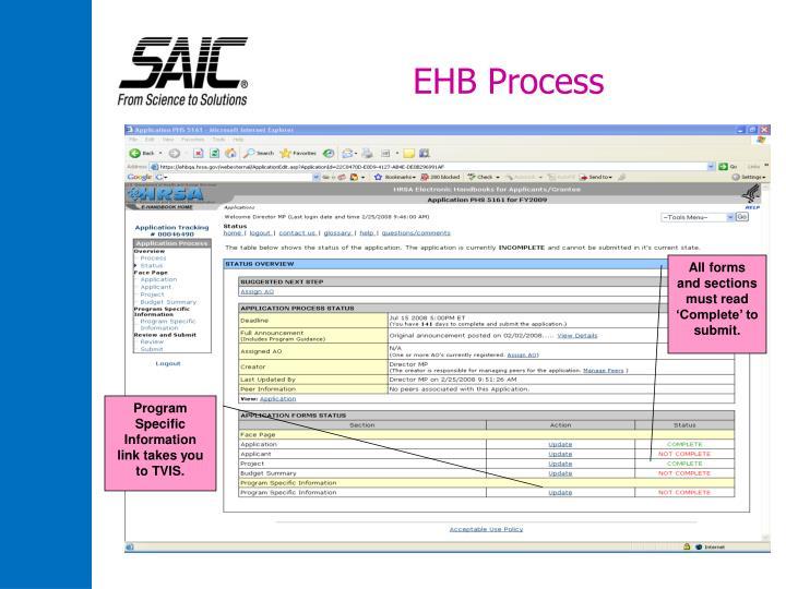 EHB Process