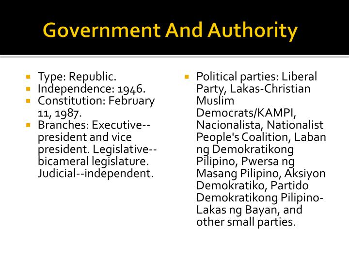Government and authority