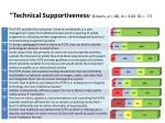 technical supportiveness 8 items 88 m 3 60 sd 77