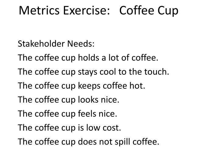 Metrics Exercise: