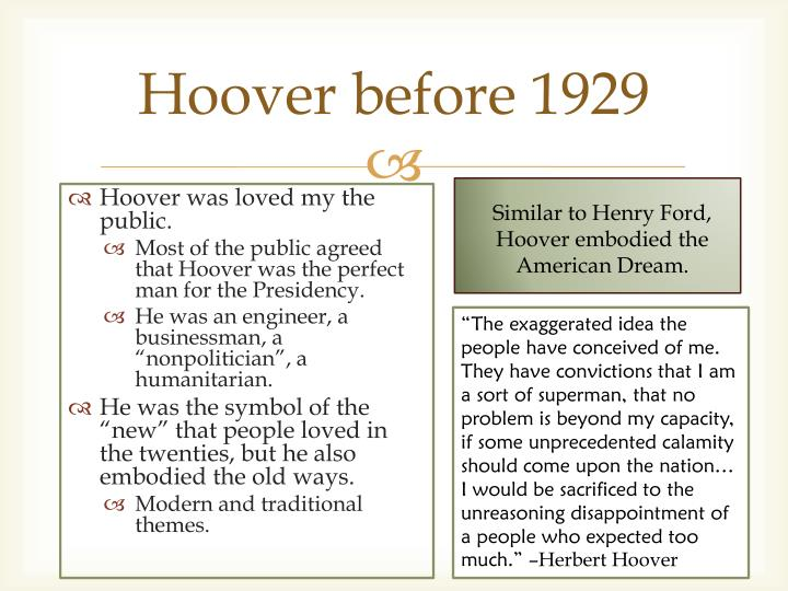Hoover before 1929