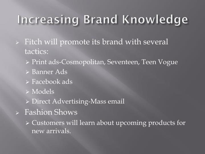 Increasing Brand Knowledge