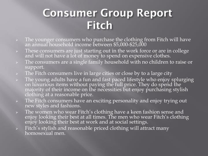 Consumer Group Report