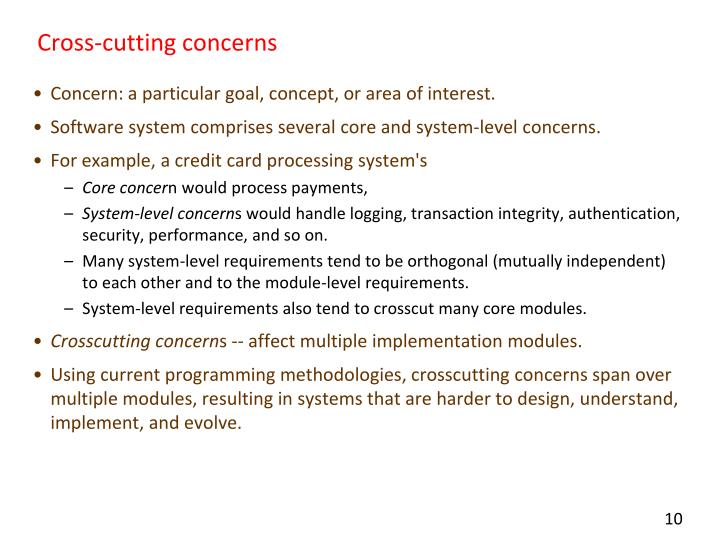 Cross-cutting concerns
