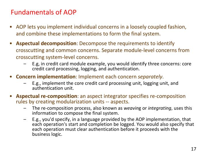 Fundamentals of AOP