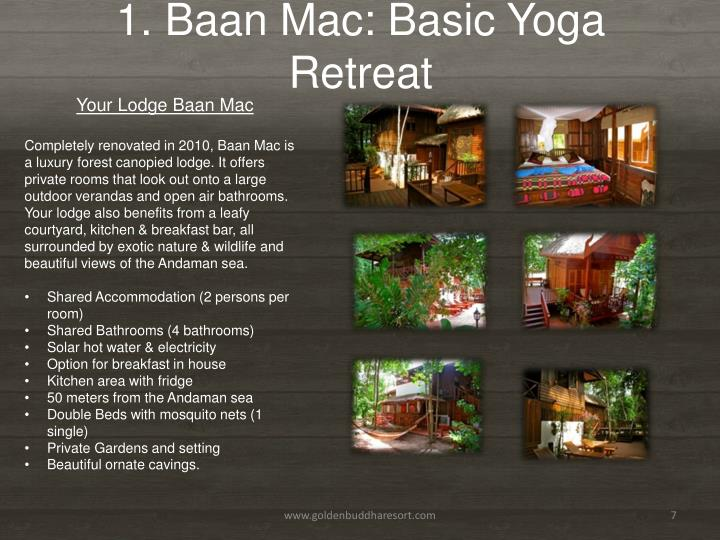 1. Baan Mac: Basic Yoga Retreat