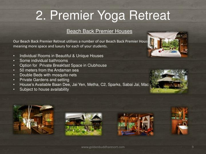 2. Premier Yoga Retreat