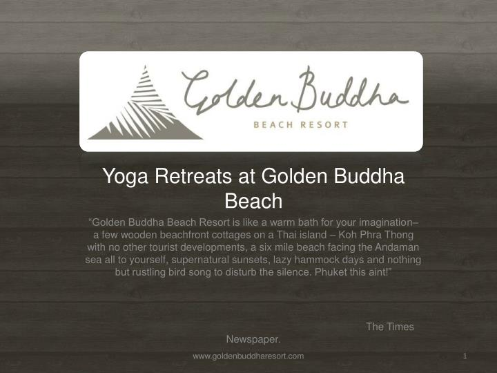 Yoga Retreats at Golden Buddha Beach