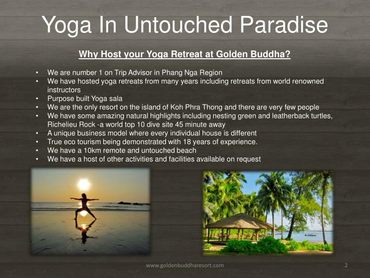 Yoga in untouched paradise