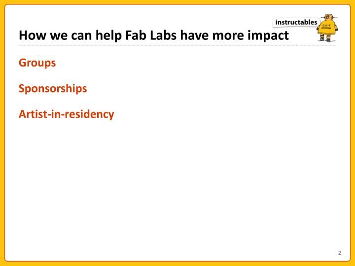 How we can help Fab Labs have more impact
