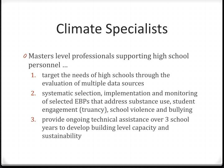 Climate Specialists
