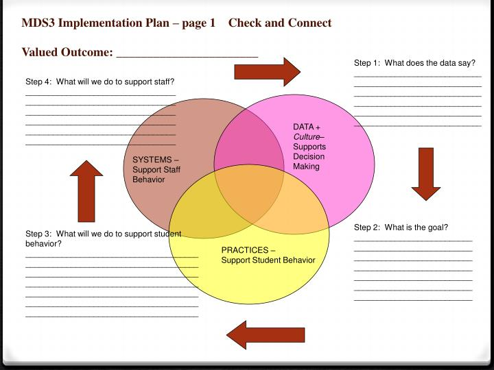 MDS3 Implementation Plan – page 1    Check and Connect