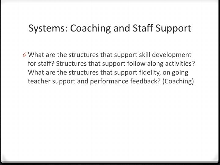 Systems: Coaching