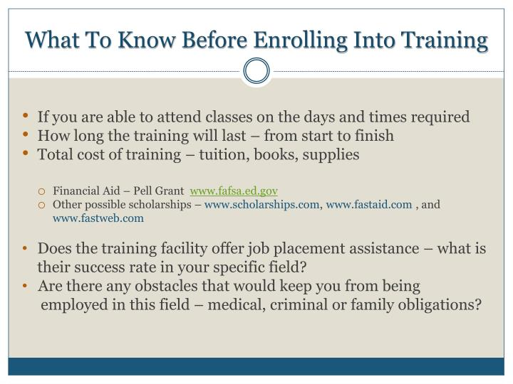 What To Know Before Enrolling Into Training