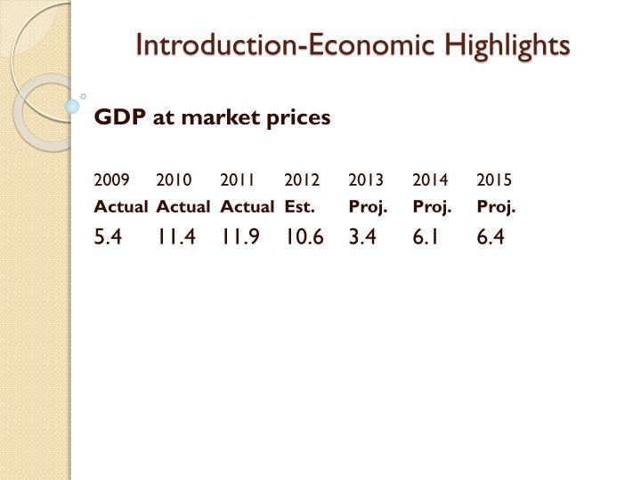 Introduction-Economic