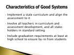 characteristics of good s ystems