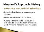maryland s approach history2