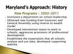 maryland s approach history3