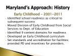 maryland s approach history5