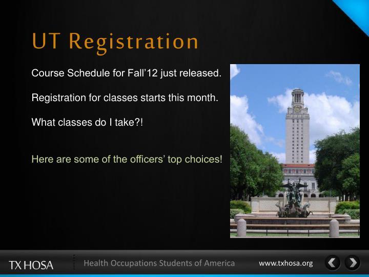 UT Registration